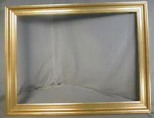 Vintage Modern European Bronze Metal Leaf Wood Picture FRame 22x30 BRIGHT GOLD