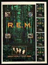 R.E.M. POSTER  Uncut #rd Proof Green World Tour 1989 Signed Artist Gary Grimshaw