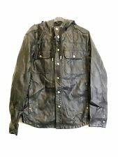 MEN`S FAUX LEATHER HOODED JACKET in BLACK COLOUR by BURTON SIZE M (M-29)