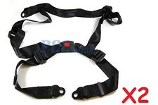 LOT 2 OF 4 Point Seat Safety Belt Harness Single Seat Go Kart Buggie H BT00 X2