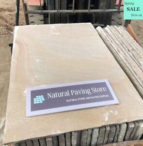 Raj Green Blend Sandstone Paving Natural Indian patio Stone slabs 600x900x22mm