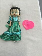 """Vintage 1986 Betty Boop 12"""" doll, Marty Toy, collectible, Green Dress Fashion"""
