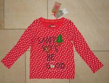 Next Shirt rot Tannen 122 NEU Mädchen Winter Langarm