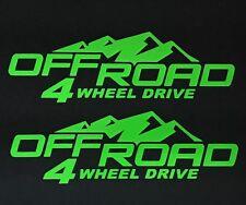 2 NEW 4X4 DECAL STICKER FORD F150 JEEP CHEVY SILVERADO DODGE RAM TOYOTA TACOMA