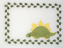 Dinosaur Embroidered quilt label for quilt tops, blocks, to customize