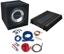 Crunch Basspack CBP1000 Car Hifi Komplettpaket Endstufe + Basskiste + Kabelset