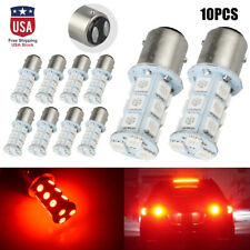 10x Red T25 1157 5050 18-SMD Car Auto LED Turn Signal Light Tail Brake Lamp Bulb