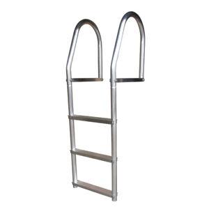 Dock Edge 2073-F Fixed Eco Weld Free Aluminum 3-Step Ladder