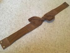 French Connection 100% tan suede leather belt knot size S/M
