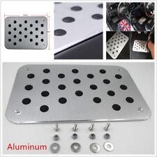 Universal Aluminum Car Truck SUV Floor Mat Carpet Plate Foot Pedal Rest 30x20cm
