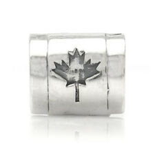 925 Sterling Silver CANADA/CANADIAN FLAG Threaded European Charm Bead