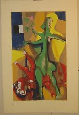 Vintage '71 WILLIAM ASHBY McCLOY 'The Last Act' Silkscreen & pastel PICASSO Schl