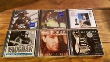 6 CD Lot Stevie Ray Vaughan Texas Flood,Weather,Hits,Tribute,Crying,Live at Pier