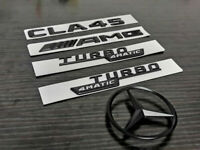 Black CLA45 TURBO 4MATIC AMG Replacement Rear Star PACKAGE Decal Badge Sticker