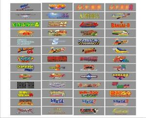 Now PRE-CUT! JAPANESE Complete Set Of All 198 N64 Top/Spine Labels