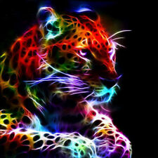 Color Leopard Full Drill 5D Diamond DIY Embroidery Painting Poster Decor Craft