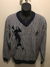 Izod Men's Small V Neck 100% Cotton Long Sleeve Pullover Sweater. NWT