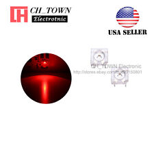 100pcs 5mm Red Light Piranha Super Flux Round Top LED Diodes Ultra Bright USA