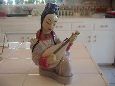 Antique Goldscheider Fine China Statue Figurine Chinese Guitarist Sylvia Scott