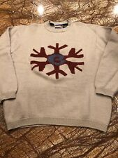 VTG Burton Men's Sz Medium Snowboard Crewneck Sweater 100% Wool ~Gray/Maroon~