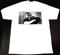 Kurt Cobain T-shirt Nirvana Grunge Rock Tee Men M-2XL 100% Cotton White New