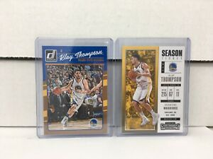 Klay Thompson (2) Collectible NBA Basketball Cards NM in Cases Panini Donruss