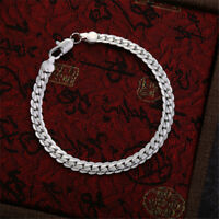 Men's Stainless Steel Chain Link Bracelet Wristband Bangle Fashion Jewelry Gift