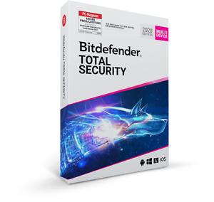 Bitdefender Total Security 2021 3, 5 oder 10 Geräte 1 bis 3 Jahre VPN per Email