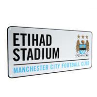 Manchester City Fc Metal Street Sign - Etihad Official Merchandise - Man City