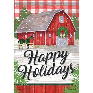"""MINI FLAG - Farm Holiday - Christmas - Horse - Carson #49713 - 12.5""""x18"""""""