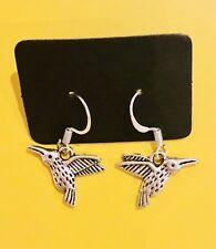 Silver Drop Earings Cute Retro Bird Swallows
