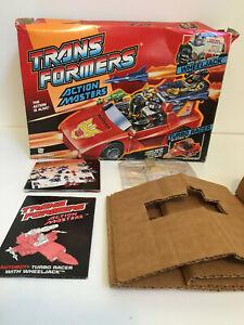 Transformers Action Masters Turbo Racer Wheeljack BOX & INSTRUCTIONS Hasbro 1989