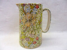 William Morris golden lily design 1 pint jug by Heron Cross Pottery