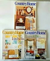 Lot of 3 Country Home Magazines 1998 - 1999