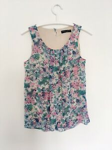 DOROTHY PERKINS 10 38 Womens Top Floral Tank Camisole Layered M Tshirt Tunic x