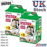 40 Fuji Instax Mini Lámina para 90 , 50 , 25 , 8 ,7s, 7 (2 cajas de 20)