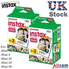 40 Fuji Instax Mini Film POUR INSTAX MINI 90, 50, 25, 8, 7s, 7 (2 boxes of 20)