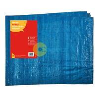 Amtech Blue Heavy Duty Waterproof Strong UV Tarpaulin Multi-Layers 120Gsm
