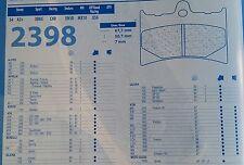 2398A3 PASTIGLIE ANTERIORE CARBONE LORRAINE GILERA 600 NORDWEST 91-