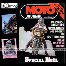 Moto journal # 438 georges jobe portal 420 yamaha xs 1100 turbo boxer bikes 1979
