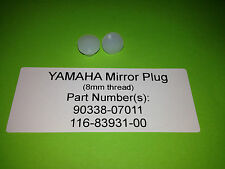 YAMAHA FS1E FS1-E FS1 FIZZY FISSY PAIR OF CLEAR NYLON 8mm MIRROR PLUGS