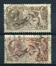GREAT BRITAIN, 1912-22, stamps 153 et 153a, GEORGES V, obliterated