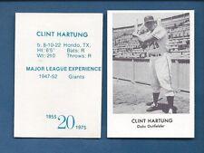 1955 Oakland Oaks PCL commemorative card: CLINT HARTUNG (1975 Doug McWilliams)