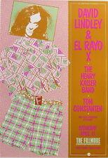 DAVID LINDLEY & EL RAYO X, HENRY KAISER BAND,TOM CONSTANTEN 1989 Fillmore poster