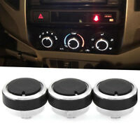 3Pcs Switch Knob Heater Climate Control Button A/C For Toyota Tacoma Vios 02-14