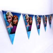 10pcs Disney Frozen Elsa Kid Flag Princess Banners Bunting Birthday Party Supply