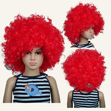 Jumbo Unisex Red Afro Children Halloween Wigs (fits from toddlers to teans)