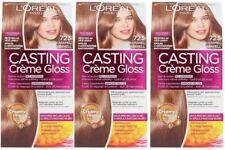 3 x LOreal Paris Casting Creme Gloss 723 Milk Caramel Hair Colourant Dye