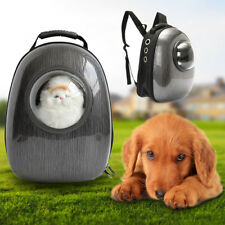 Dog Cat Pet Astronaut Capsule Backpack Carrier Breathable Travel Space Bag Black