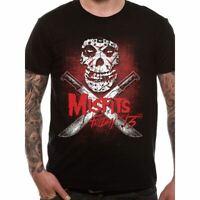 Mens Unisex Misfits Friday The 13th Black T-Shirt - Crew Neck Music Tee